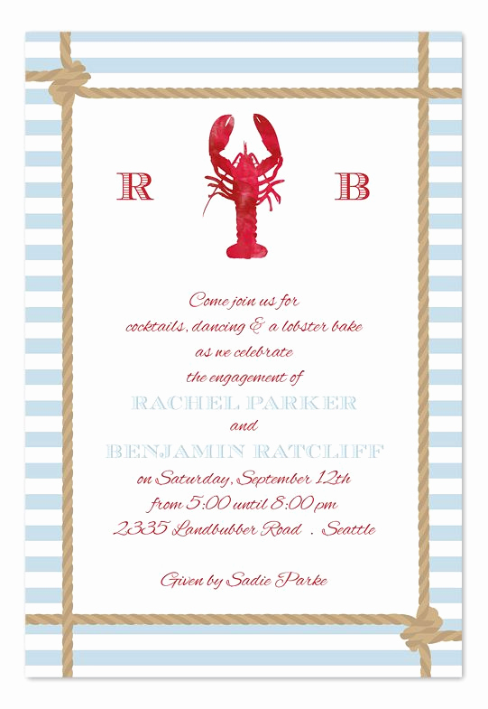Low Country Boil Invitation Wording Inspirational Lobster Catch Party Invitations by Invitation