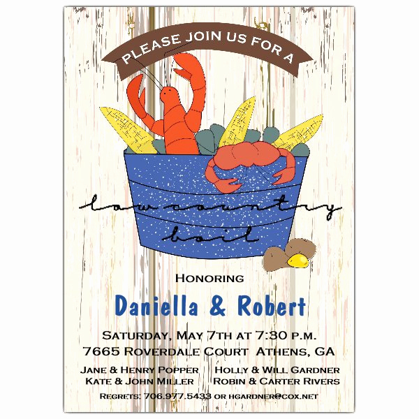 Low Country Boil Invitation Wording Lovely Rustic Low Country Boil Invitations