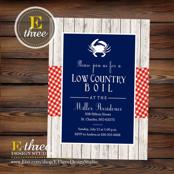 Low Country Boil Invitation Wording Lovely Seafood Boil Invitation Low Country Boil Party Invite