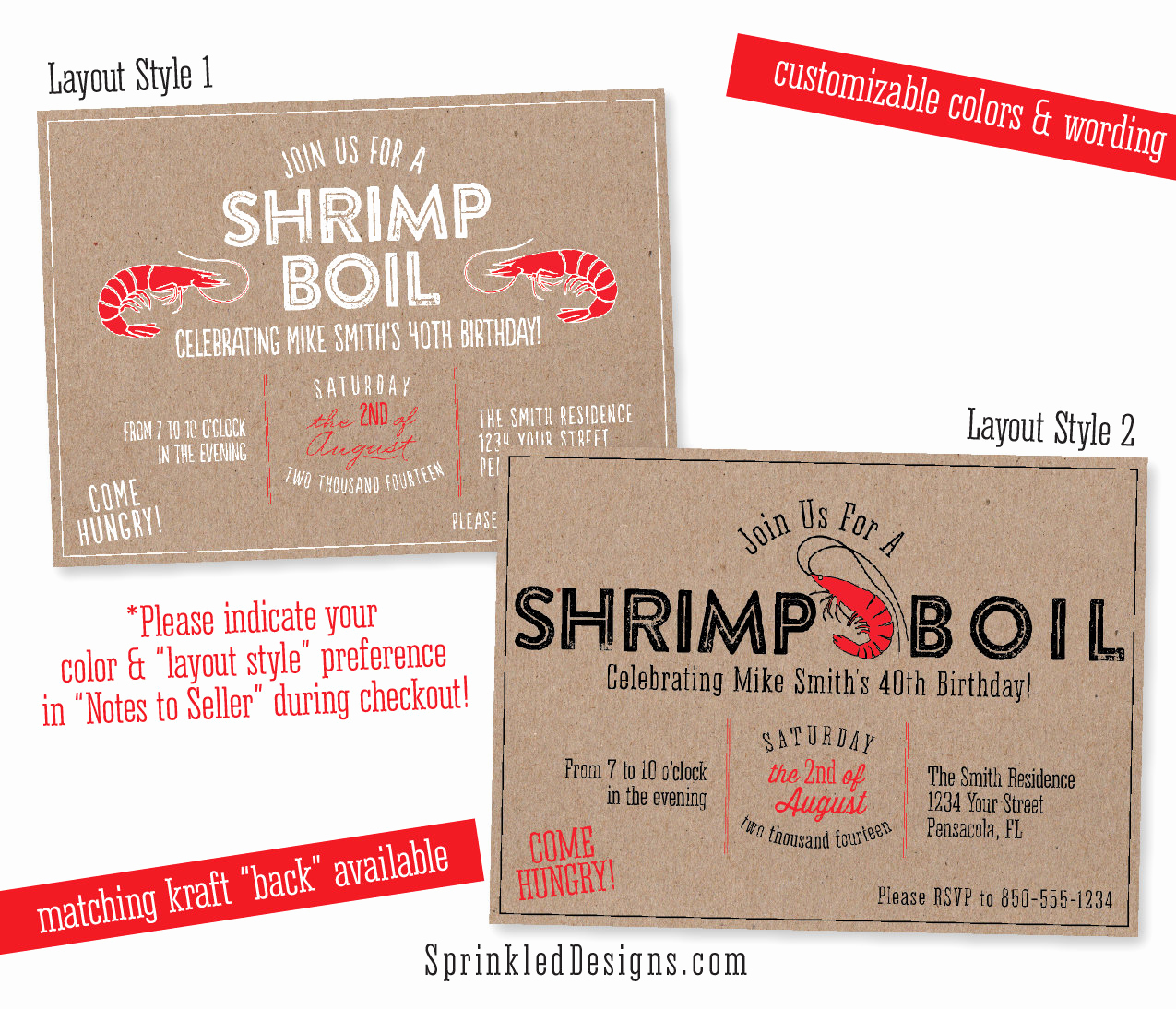 Low Country Boil Invitation Wording Luxury Shrimp Boil Party Invitation Rustic Seafood Low Country Boil
