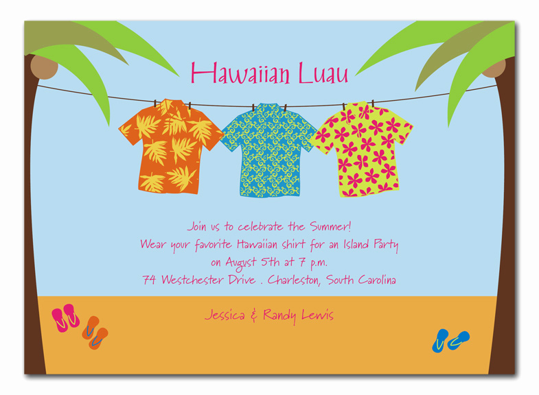 Luau Birthday Invitation Wording Awesome Hawaiian Shirts Party Invitations by Invitation