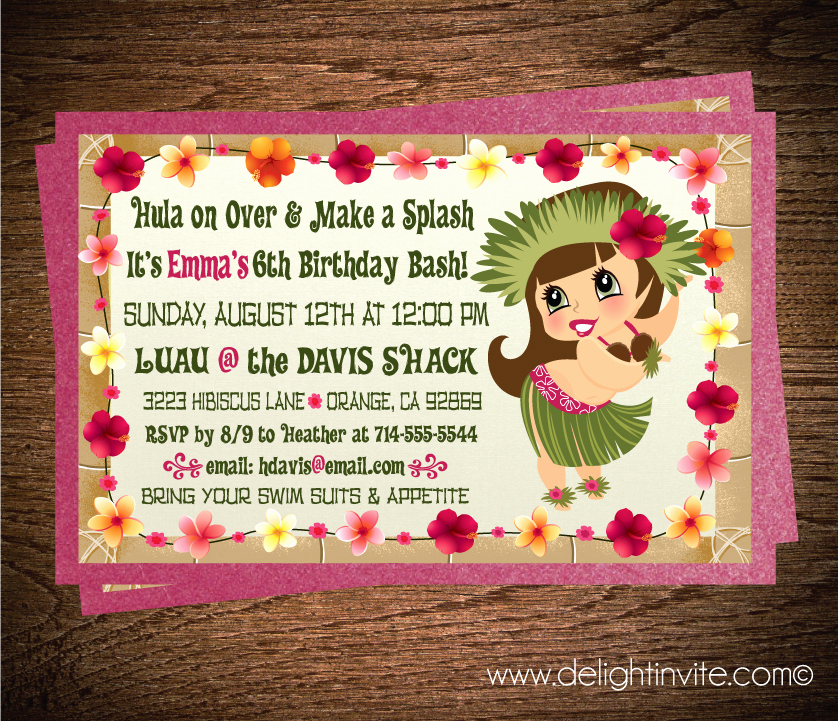 Luau Birthday Invitation Wording Best Of Hawaiian Luau Invitations Party Xyz