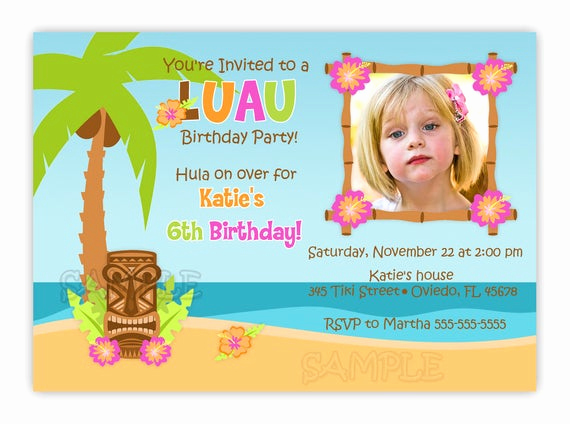 Luau Birthday Invitation Wording Best Of Luau Hula Birthday Party Card Invitation by