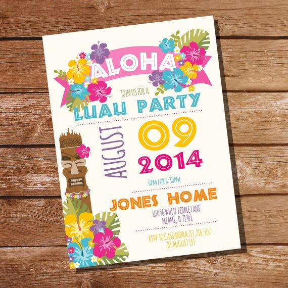 Luau Birthday Invitation Wording Fresh 25 Best Ideas About Luau Birthday Invitations On
