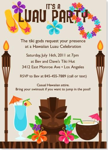 Luau Birthday Invitation Wording Fresh Luau Party Invitations to Inspire You How to Make the