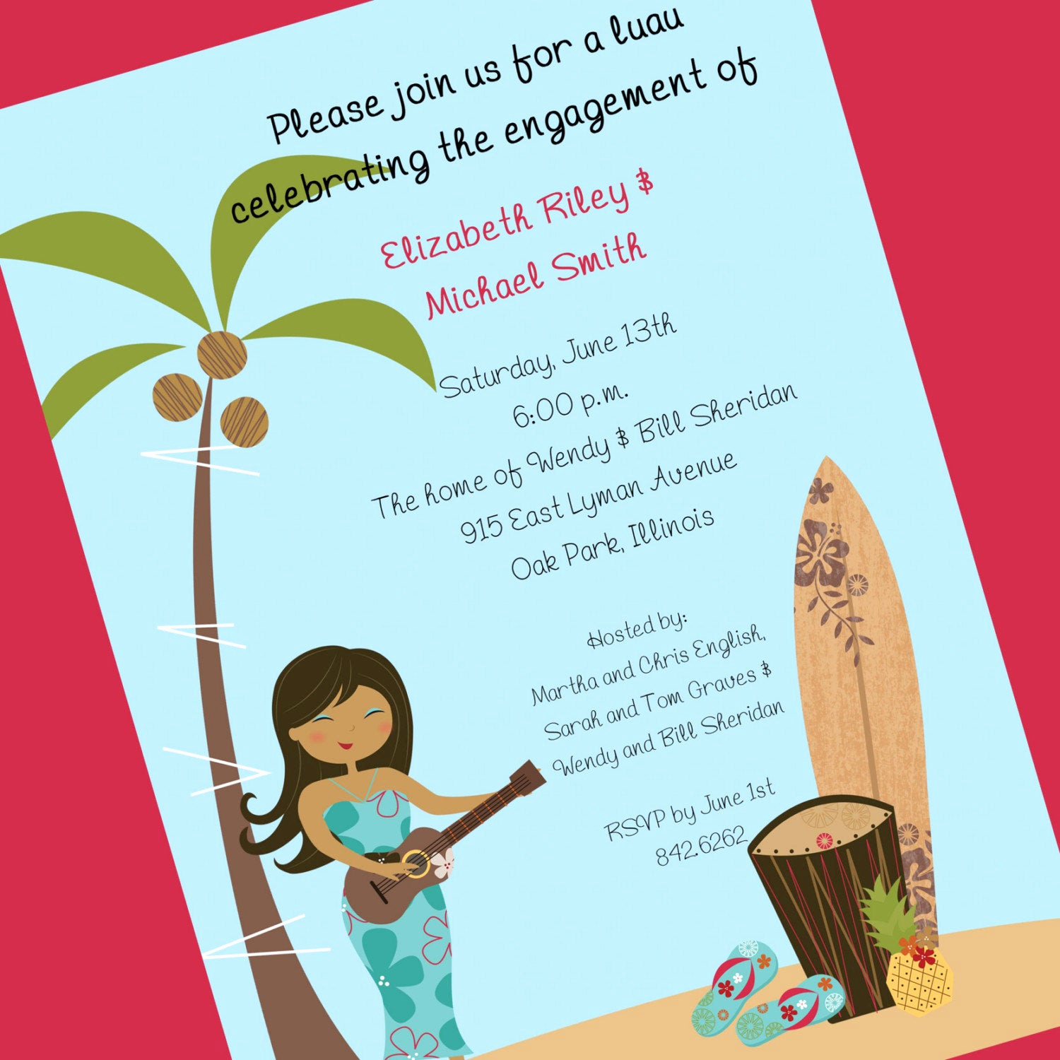 Luau Birthday Invitation Wording Lovely Luau Invitation Custom Wording 12 Invitations and Envelopes