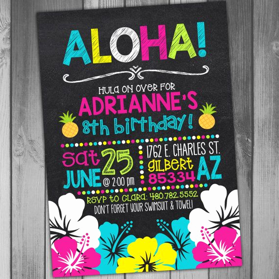 Luau Birthday Invitation Wording New Best 25 Luau Birthday Invitations Ideas On Pinterest