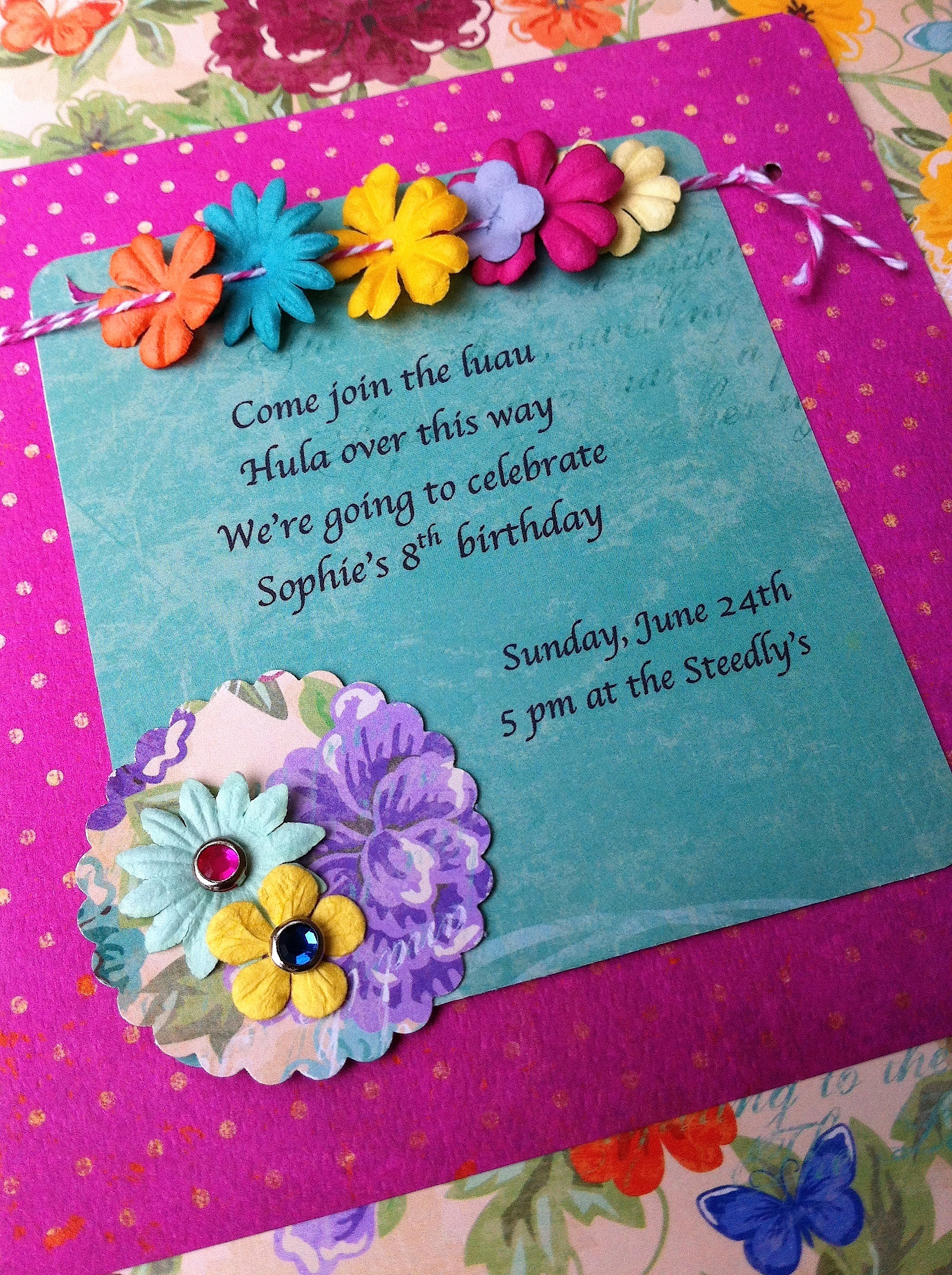 Luau Birthday Invitation Wording Unique Luau Invitation