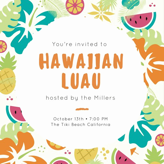 Luau Party Invitation Template Best Of Luau Party Pineapple Tropical Invitation Templates by Canva