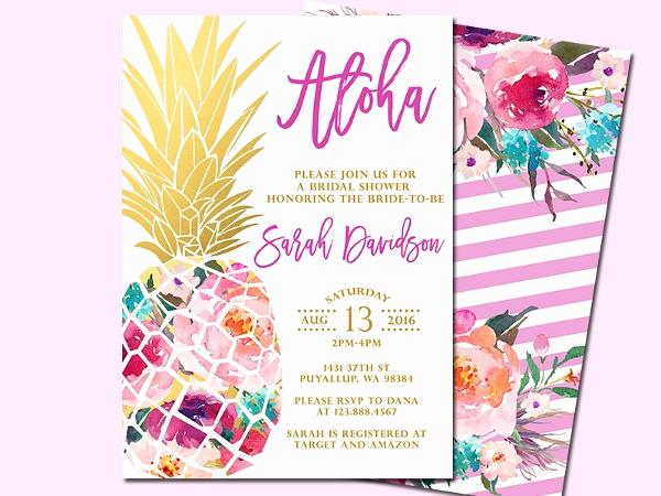 Luau Party Invitation Template Fresh 14 Luau Invitation Designs & Templates Psd Ai