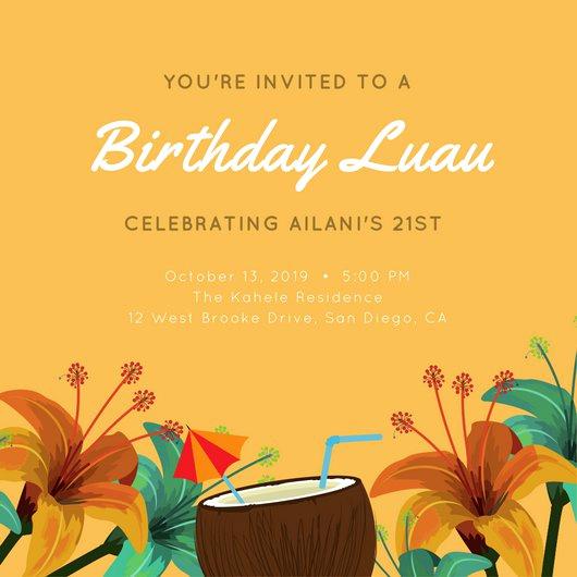 Luau Party Invitation Template Fresh Customize 102 Luau Invitation Templates Online Canva