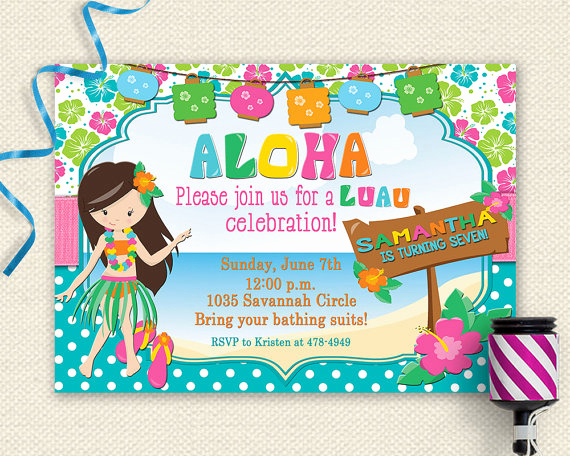 Luau Party Invitation Template Fresh Luau Invitation Luau Birthday Invitation Luau Party Luau