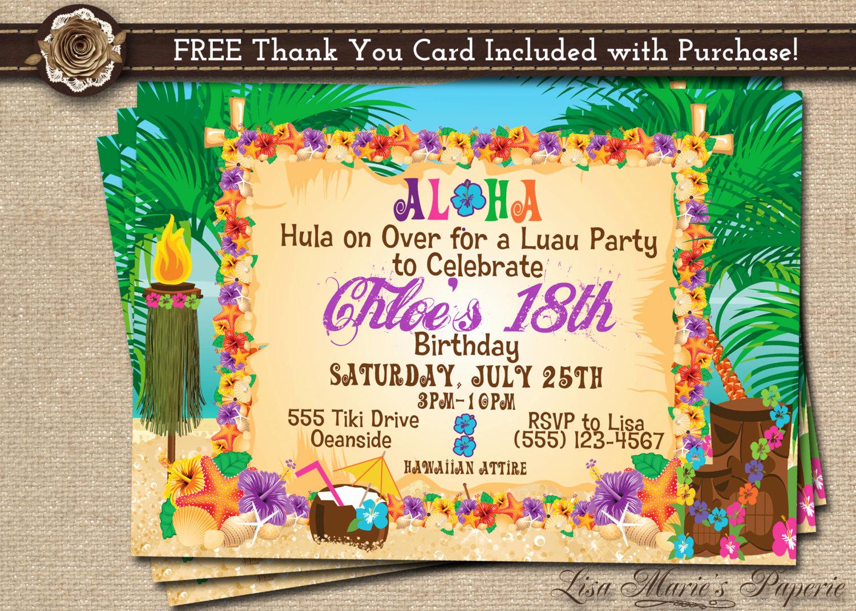 Luau Party Invitation Template Inspirational Hawaiian Party Invitation Luau Birthday Invitation Luau