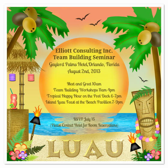 Luau Party Invitation Template Inspirational Let S Luau Invitations & Cards On Pingg