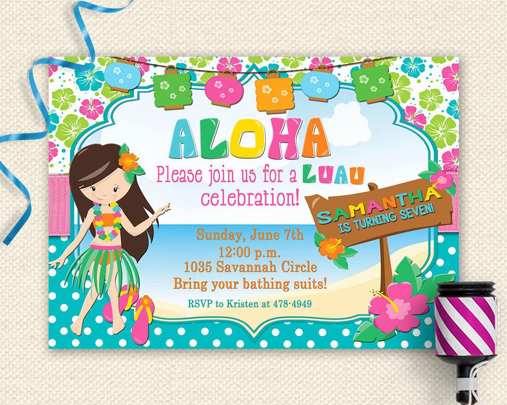 Luau Party Invitation Template Luxury Luau Invitation Luau Birthday Invitation Luau Party Luau
