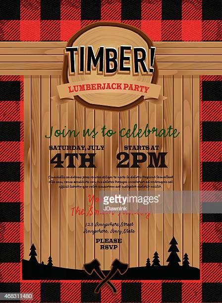 Lumberjack Invitation Template Free Beautiful Lumberjack Stock Illustrations and Cartoons
