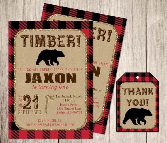 Lumberjack Invitation Template Free Best Of Little Lumberjack Invitation Personalized by