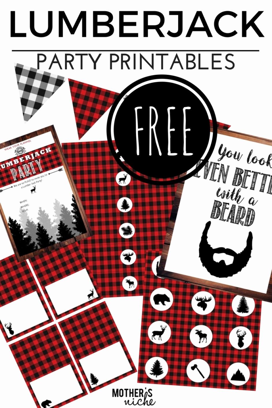 Lumberjack Invitation Template Free Fresh Lumber Jack Party with All the Free Party Printables You Need