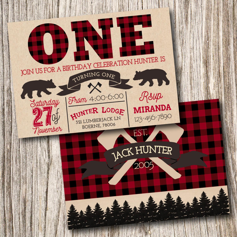 Lumberjack Invitation Template Free Fresh Lumberjack Baby Shower Invitation by Jeannineaubreydesign