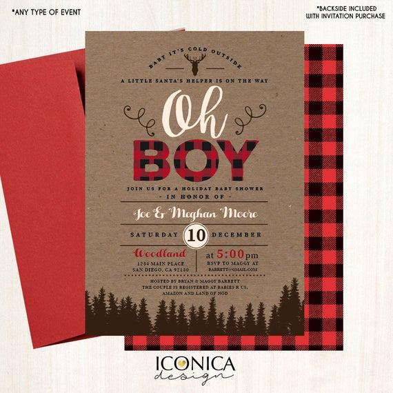 Lumberjack Invitation Template Free Fresh Lumberjack Baby Shower Invitation Plaid Wilderness Camping