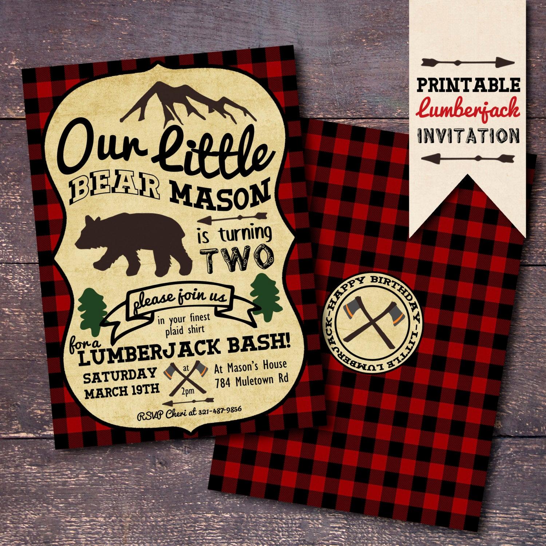 Lumberjack Invitation Template Free Fresh Lumberjack Invitation Printable Lumberjack Invitation
