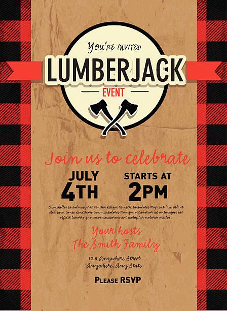 Lumberjack Invitation Template Free Inspirational Best Lumberjack Illustrations Royalty Free Vector