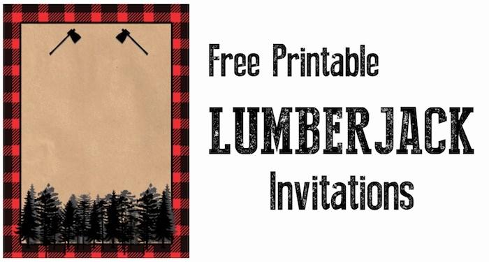 Lumberjack Invitation Template Free Inspirational Lumberjack Invitation Free Printable Paper Trail Design