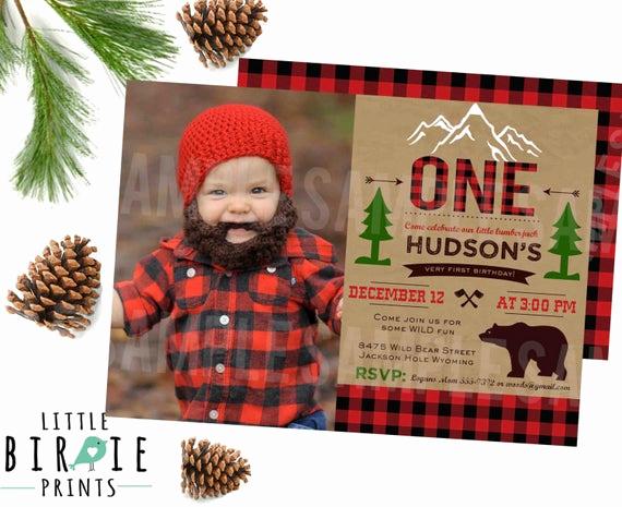 Lumberjack Invitation Template Free Luxury Lumberjack Birthday Invitation Lumberjack First Birthday