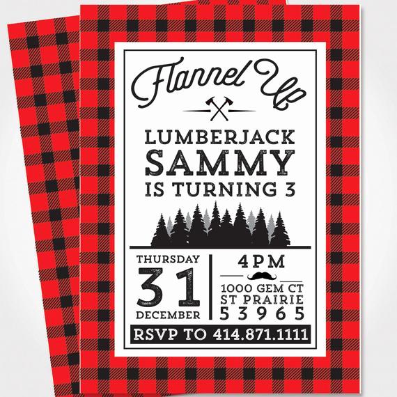 Lumberjack Invitation Template Free Luxury Lumberjack Birthday Invitation Lumberjack Party Flannel
