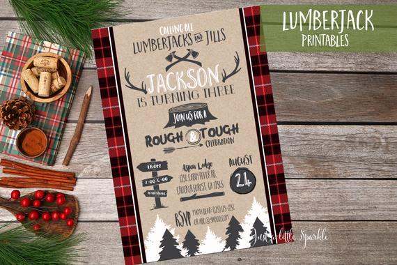 Lumberjack Invitation Template Free Luxury Lumberjack Birthday Invitation Printable Lumberjack Birthday