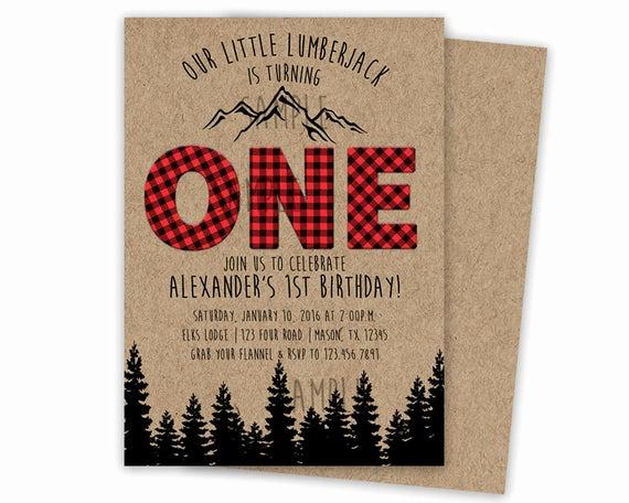 Lumberjack Invitation Template Free New Lumberjack Birthday Invitation Lumberjack by Partyprintexpress