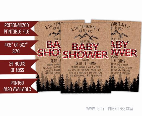 Lumberjack Invitation Template Free Unique Printable Lumberjack Baby Shower Invitation Lumberjack