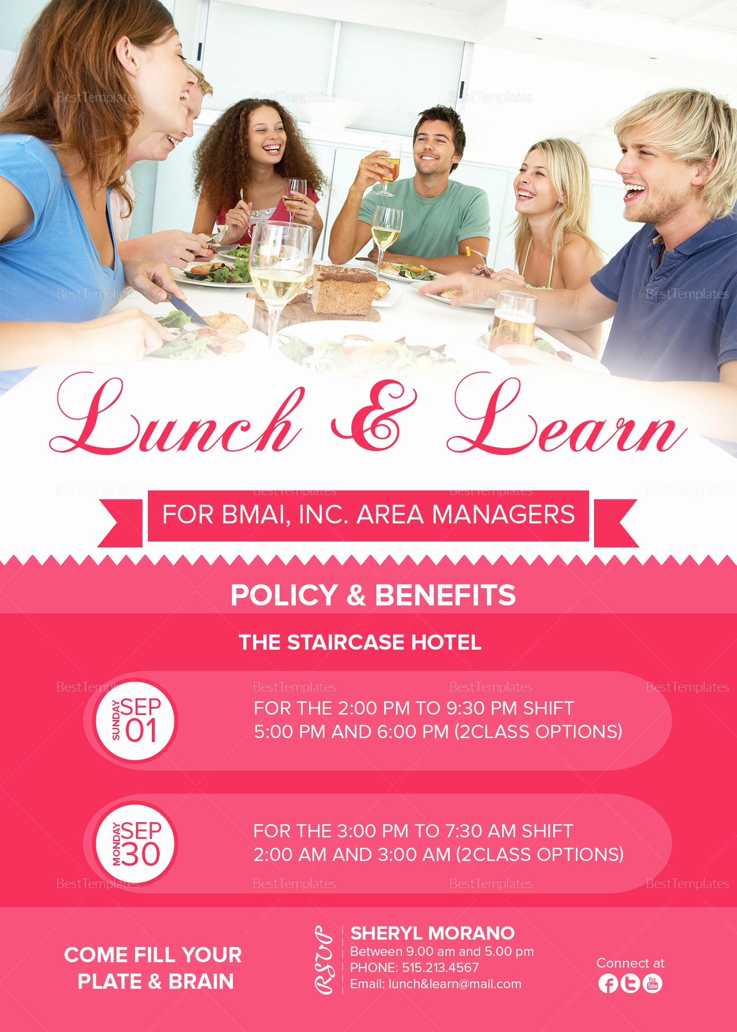 Lunch and Learn Invitation Awesome Lunch and Learn Invitation Design Template In Psd Word