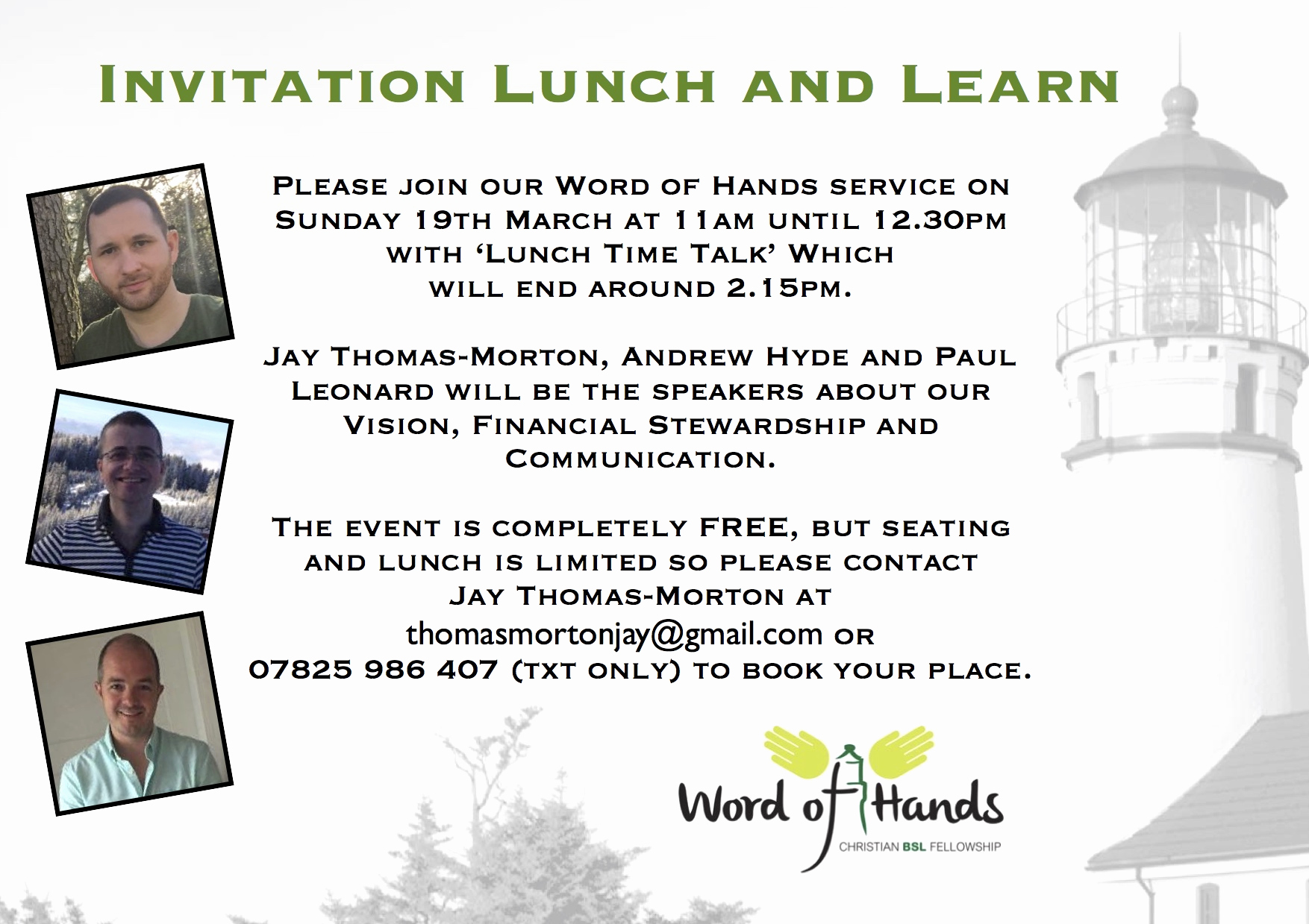 Lunch and Learn Invitation Awesome Word Of Hands Invitation Lunch & Learn