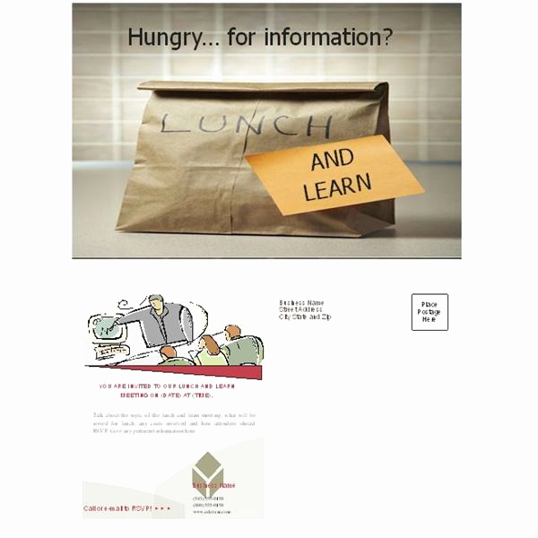 Lunch and Learn Invitation Elegant Free Business Lunch and Learn Invitation forms Options