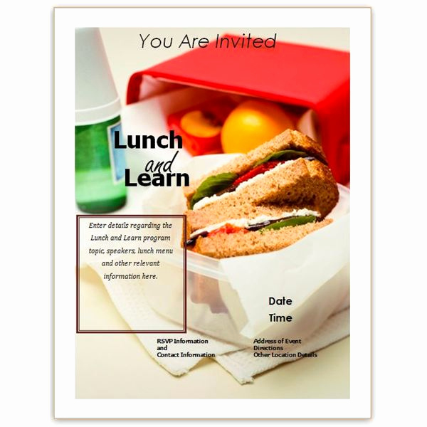 Lunch and Learn Invitation Inspirational Free Business Lunch and Learn Invitation forms Options