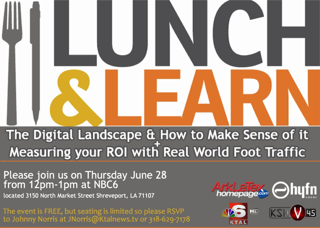 Lunch and Learn Invitation Luxury Nbc 6 Digital Lunch & Learn Bossier Chamber