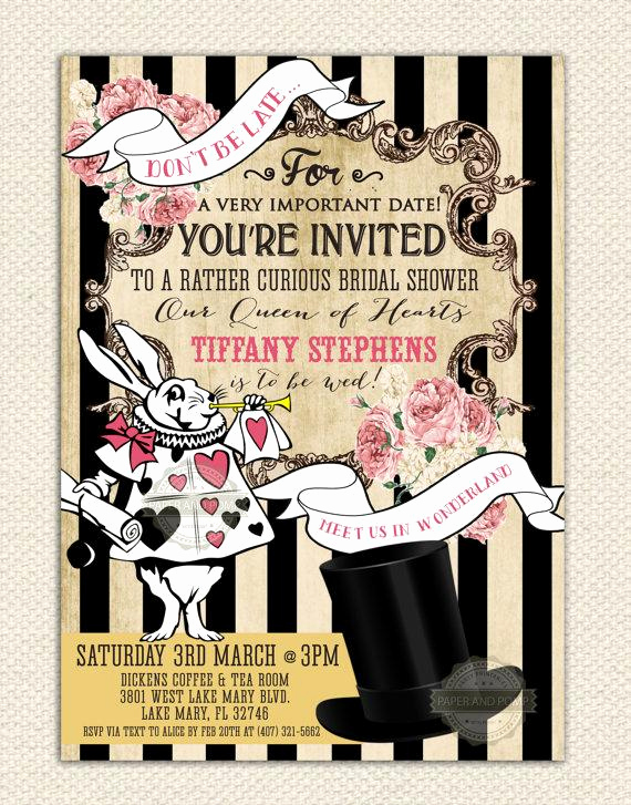 Mad Hatter Invitation Template Awesome Mad Hatter Tea Party Invitations Printable