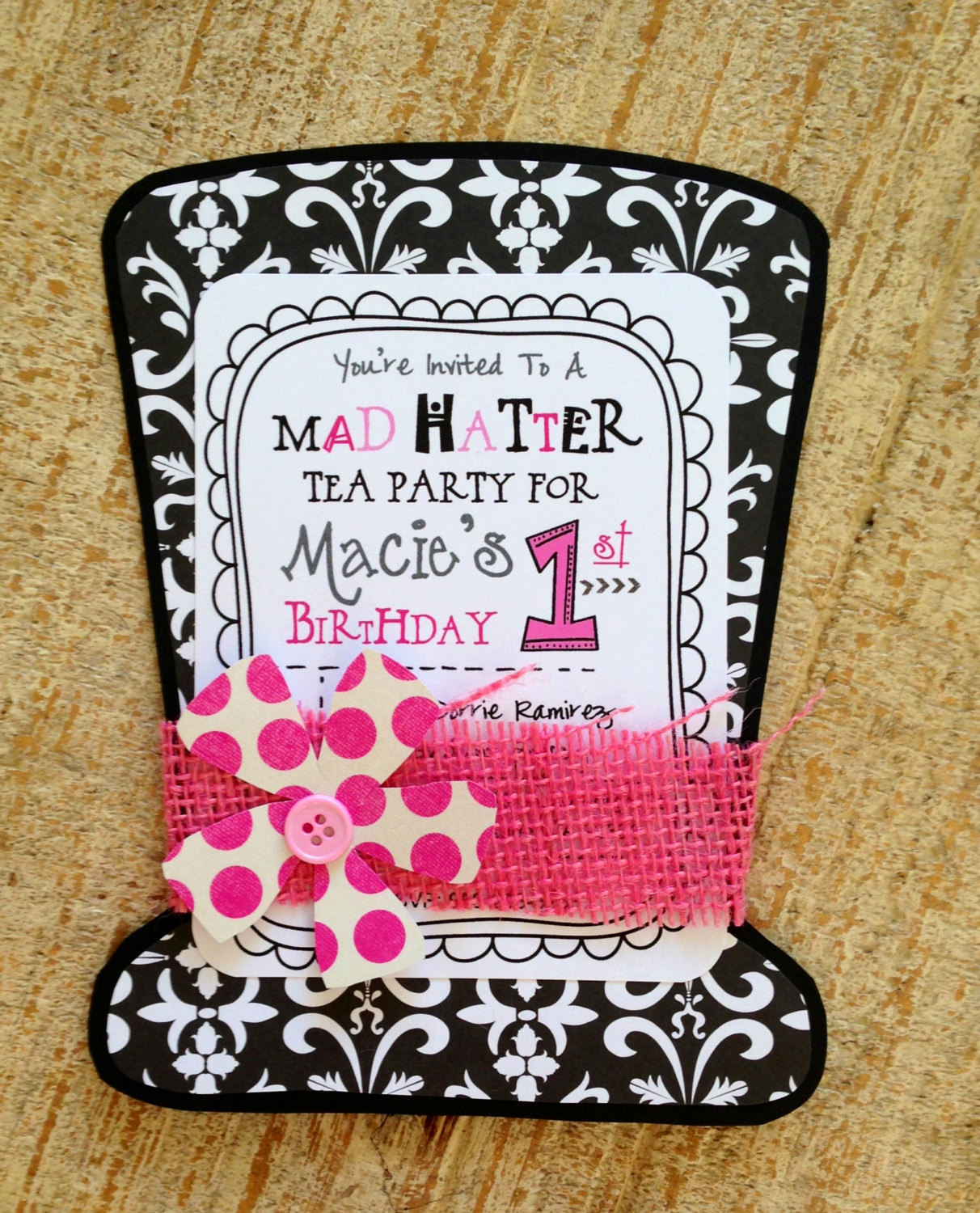 Mad Hatter Invitation Template Elegant Mad Hatter Tea Party Invitation by Jodigilbert2004 On Etsy