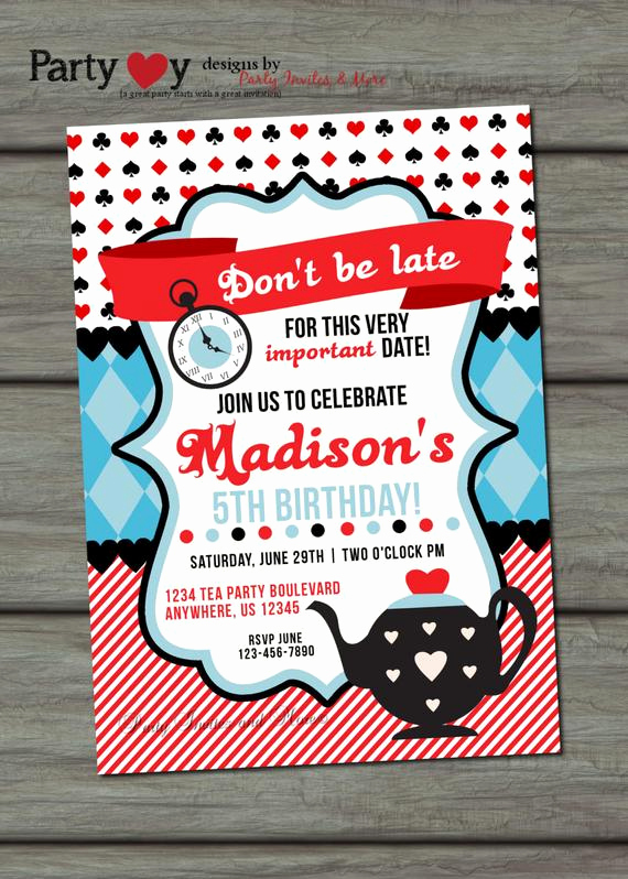 Mad Hatter Invitation Template Fresh Tea Party Birthday Invitation Mad Hatter by