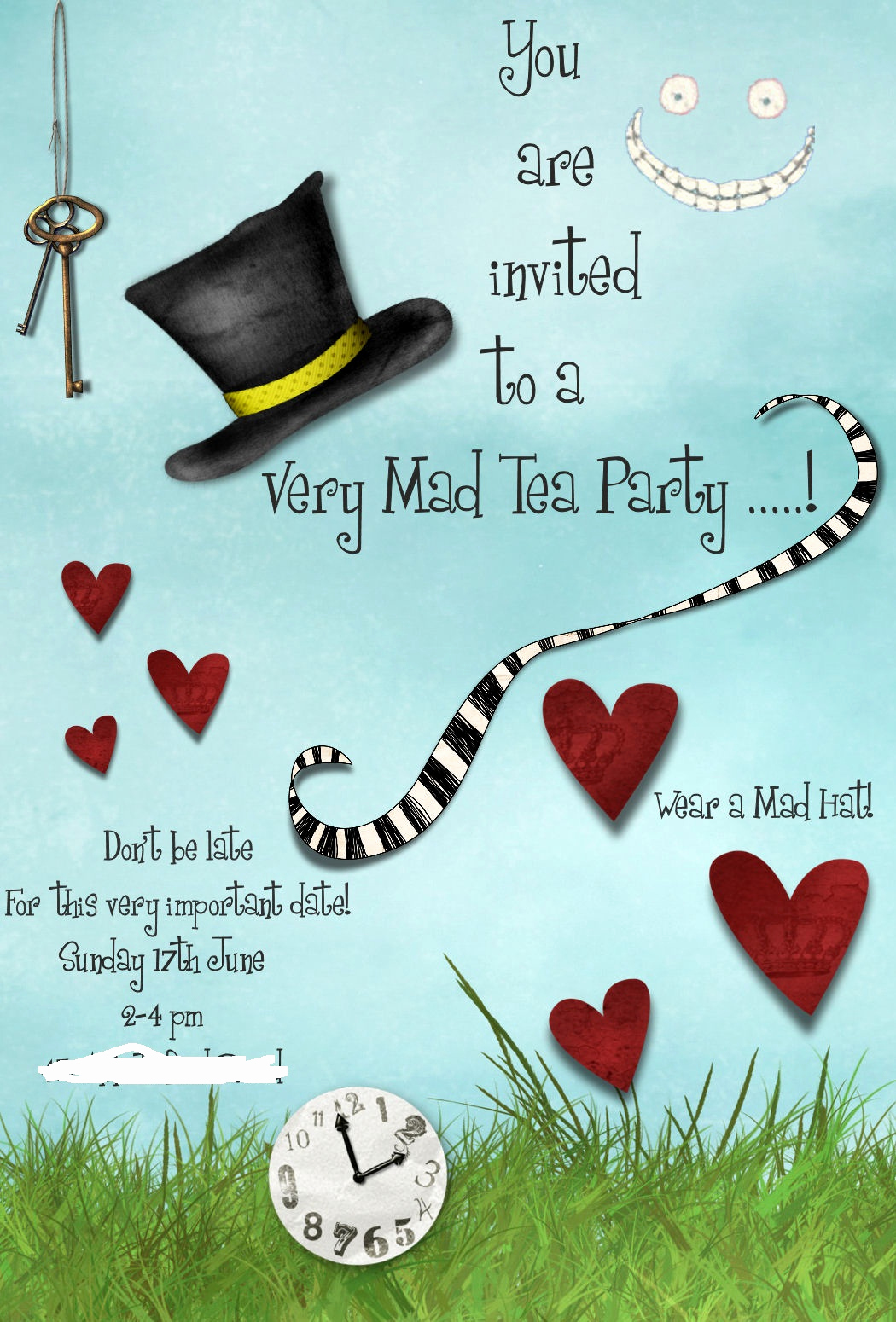 Mad Hatter Invitation Template Inspirational Jen S Place Mad Hatters Tea Party