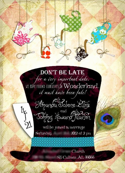 Mad Hatter Invitation Template Lovely Alice In Wonderland Mad Hatter