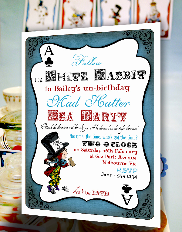 Mad Hatter Invitation Template New Mad Hatter Invitation