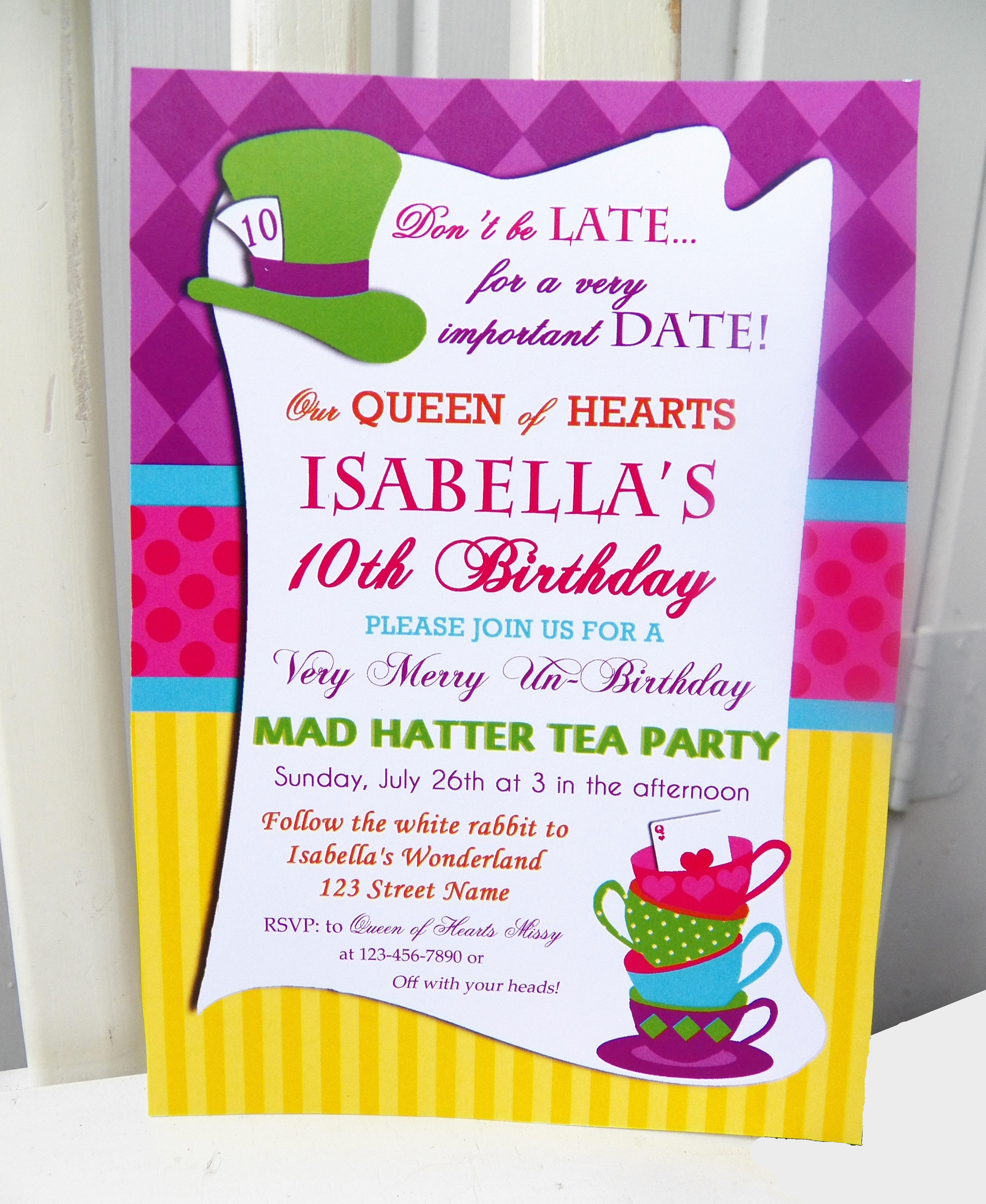 Mad Hatters Tea Party Invitation Best Of Mad Hatter Inspired Tea Party that Party Chick
