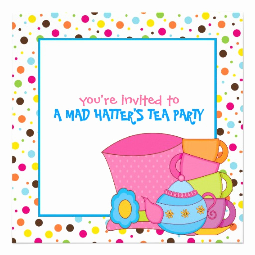"Mad Hatters Tea Party Invitation Inspirational Mad Hatter S Tea Party Invitations 5 25"" Square Invitation"