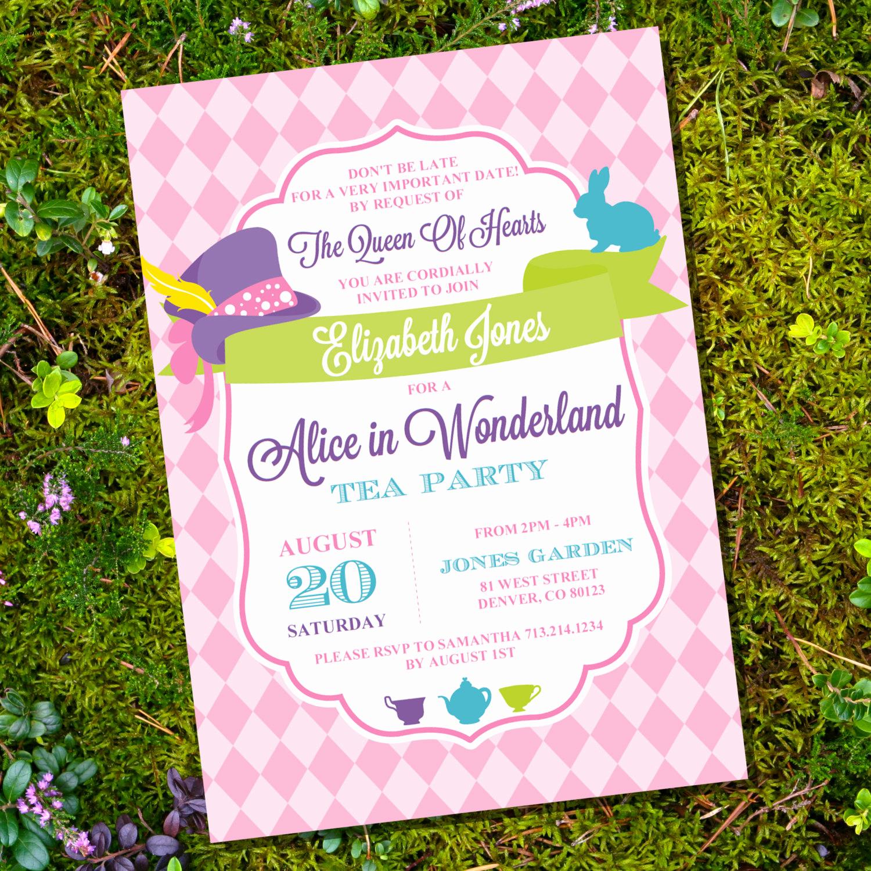 Mad Hatters Tea Party Invitation Inspirational Mad Hatter Tea Party Invitation Alice In Wonderland Tea