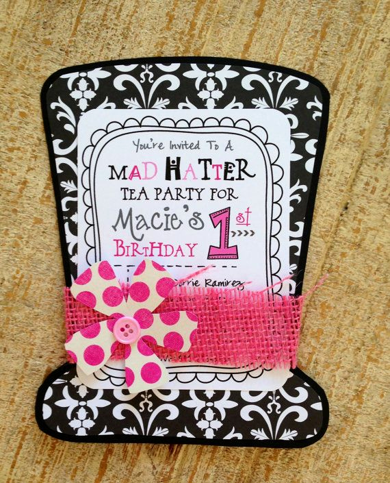 Mad Hatters Tea Party Invitation Lovely 17 Best Ideas About Mad Hatter Tea On Pinterest