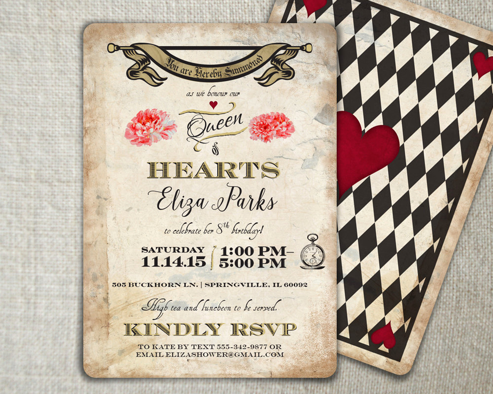Mad Hatters Tea Party Invitation Lovely Mad Hatter Birthday Invitation Mad Hatter Tea by Peartreespace