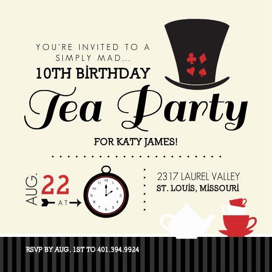 Mad Hatters Tea Party Invitation Luxury Free Printable Invitations Mad Hatter
