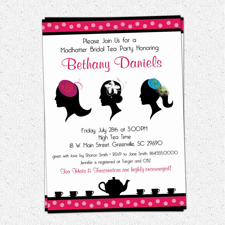 Mad Hatters Tea Party Invitation Luxury Madhatter Mad Hatter Tea Party Invitation Printable